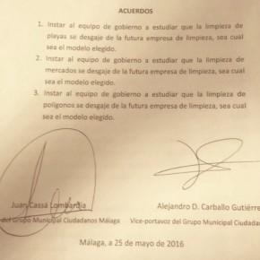 Aprobada la propuesta de C's para desgajar playas, polígonos y mercados de Limasa