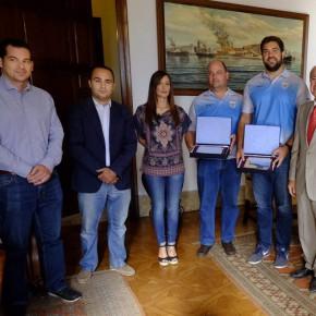 Recepción a los olímpicos Borja Vivas y Tomás Fernández