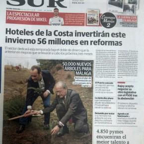 Así recogen los medios los avances en reforestación gracias al acuerdo de investidura en Málaga
