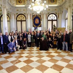 El grupo municipal asiste a la Copa de Navidad en el Salón de los Espejos