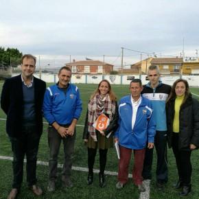 Visita del grupo municipal al campo del Atlético San Julián