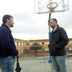 Ciudadanos visita al Málaga Basket en el distrito de Teatinos