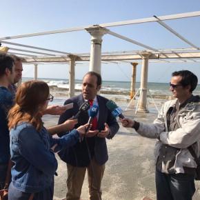 Cs exige que Costas acometa los tres espigones pendientes en Baños del Carmen