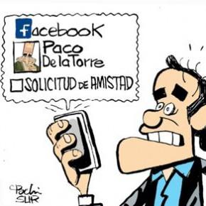 Cassá, De la torre y las redes sociales en la viñeta de Pachi en Diario Sur