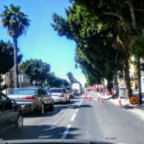 Ciudadanos cumple con Carranque: en obras las medianas y aceras de la Avenida de Andalucía