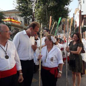 Cs visita a las hermandades del Carmen de El Palo y Pedregalejo en su día grande