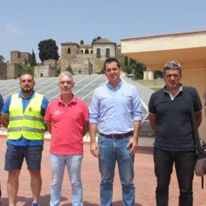 Carballo se reúne con los bomberos de Málaga