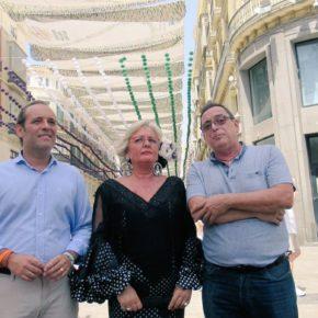 Cassá destaca el éxito de las plazas con música en la feria del centro de Málaga