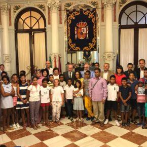 Recepción a los niños saharauis que disfrutan de sus vacaciones en Málaga