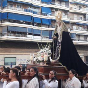 Cs acompaña a la Virgen de las Lágrimas del Carmen en Huelin