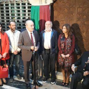 Cassá asiste a la inauguración de la placa a Eugenio Chicano