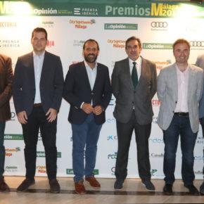 Cs Málaga asiste a la entrega de los Premios Málaga 2017 de La Opinión