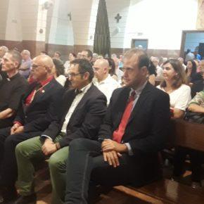 Cs Málaga en la presentación del cartel del Rosario de las Hermandades de Glorias