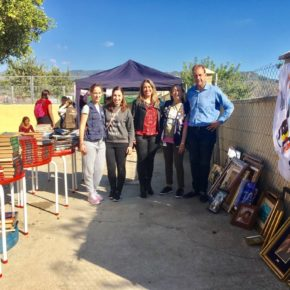 Cs Málaga visita el Mercadillo Solidario de la Protectora de Animales