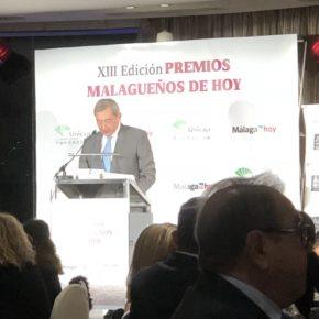 Carballo y Sichar asisten a la XIII Edición de los Premios Malagueños de Hoy