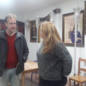 Cs Málaga visita las hermandades de la Salud, Santa Cruz y Dulce Nombre