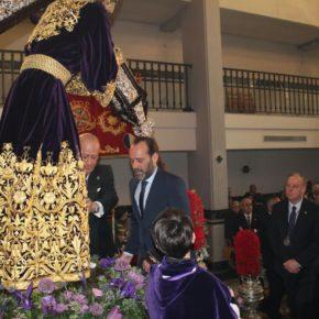 Cassá, presente en la bendición de la nueva túnica del Nazareno del Paso