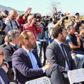 Cassá asiste al acto de primera piedra de la Academia del Málaga CF