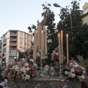 Cs acompaña a la Virgen de Fátima en su procesión