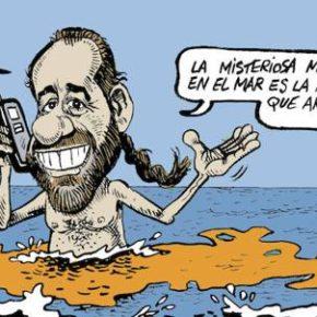 Idígoras retrata la marea naranja en la viñeta de Diario Sur