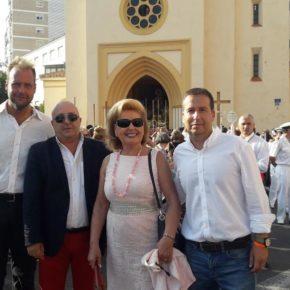 Cs acompaña a las hermandades malagueñas en las procesiones de la Virgen del Carmen