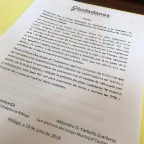 Cs pide un lugar estable y bien señalizado para los exámenes de Tráfico en Málaga