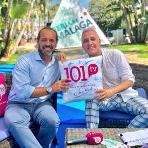 Cassá reivindica en 101 TV mimar y lanzar mensajes positivos sobre la Feria de Málaga