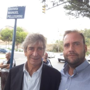Cs felicita a Manuel Pellegrini por la inauguración de la glorieta que lleva su nombre