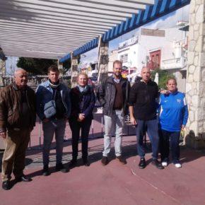 Vecinos de El Palo recurren a Cs para denunciar desperfectos en el paseo marítimo de El Palo