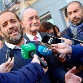 Cassá visita Ancha del Carmen, renovada gracias a los acuerdos de Ciudadanos Málaga