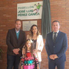 El pabellón de Carranque ya lleva el nombre de José Luis Pérez Canca