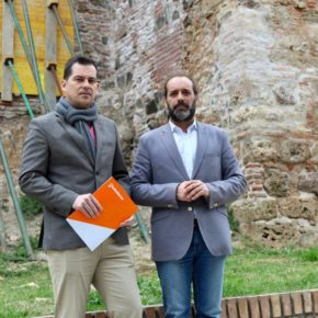 Cs exige un plan que acabe con los derrumbes y consolide el conjunto Alcazaba-Gibralfaro