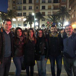 Cs Málaga, en la manifestación del 8M por el Día de la Mujer