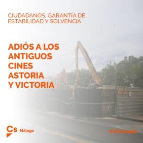 Cs cumple con Málaga: derribados los antiguos cines Astoria-Victoria